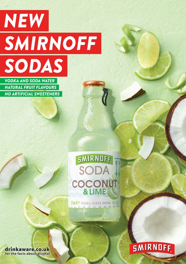 Smirnoff Soda Portrait Lime and coconut